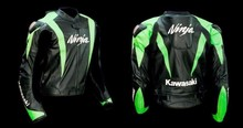 Kawasaki Ninja Motorbike Leather Racing Jacket Genuine Cowhide Leather