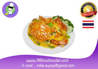 Fried crab curry food model