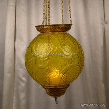 Handcrafted Moroccan Silver Plated Brass Lighting Lantern Hanging Lamp Chandelier Hanging