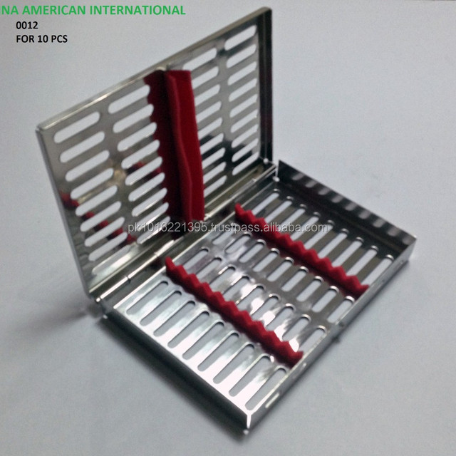 Dental Instruments Cassette For 10 instruments Sterilizing Tray for Dental Instruments