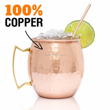 Real Manufacturer & Supplier of 100% Solid Copper Mugs 16Oz Moscow Mule Handmade Hammered Barrel FDA Certified for Amazon Seller