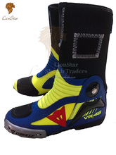 Lionstar Latest Rossi VR46 Motorbike Leather Shoes with CE Approved Armors