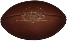 Official size 3 4 5 soft antique leather rugby ball good Quality