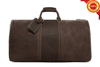 Vintage genuine cowhide thick leather travel bag genuine leather duffel bag