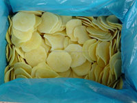 High quality frozen peeled sliced potato strips