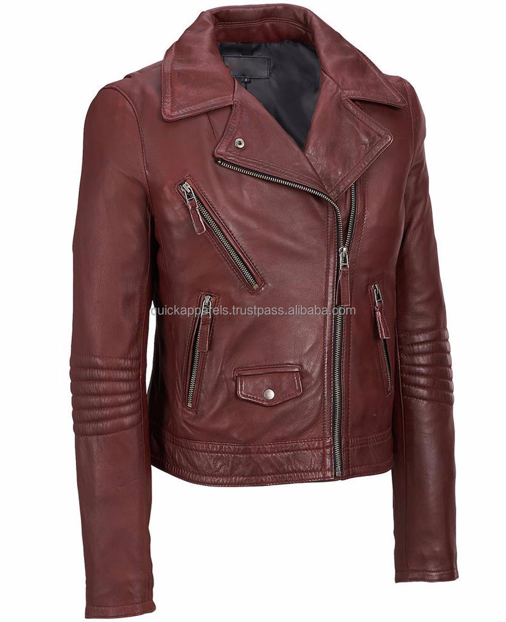 Custom Trendy Style Leather Jacket Women,Winter women's clothing garment apparel OEM/ODM manufacturer direct factory custom
