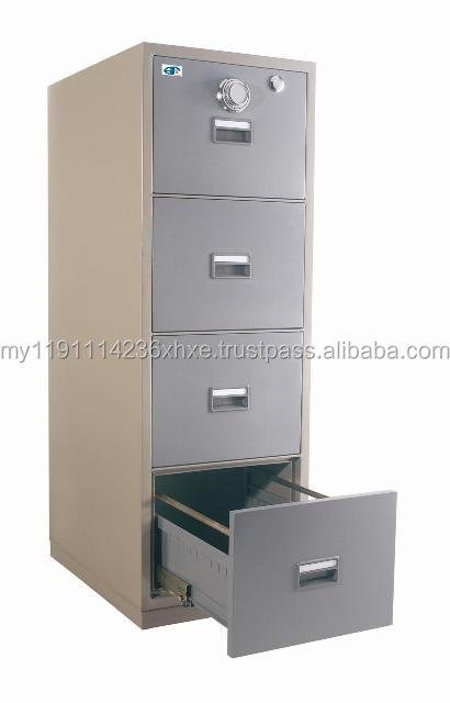 4 Drawers Fire Resistant Filing Cabinet