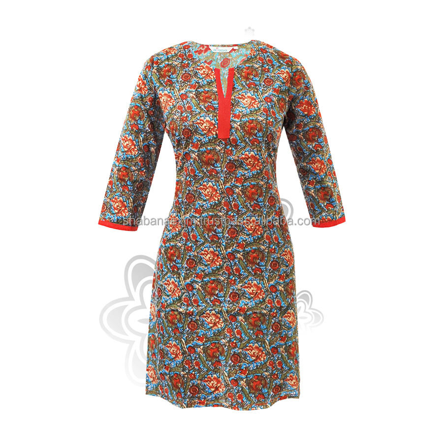 Indian Ladies kurti long tops printed woolen kurtis