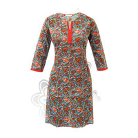 new style net party wear embroidered kurta