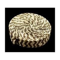 Handmade Woven Paper Beads, No Hole, Flat Round, Olive, about 30mm in diameter, 9mm thick CR066Y
