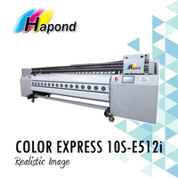 COLOR EXPRESS 10S-E512i Konica 512i print head, 3.2 wide format solvent inkjet printer