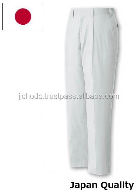 Durable twill work pants ( single pleated ), made with stretch fabric. Made by Japan