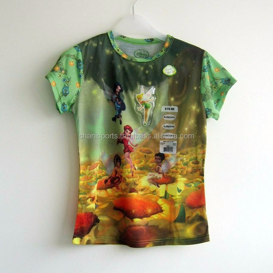 Sublimation T Shirt 3d Printing T Shirt All Over Printed