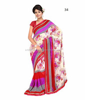 Printed Synthetic Georgette Sarees
