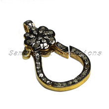 Diamond Clasp !! 925 Sterling Silver Diamond Jewelry, Indian Fashion Diamond Jewelry, Sterling Diamond Jewelry
