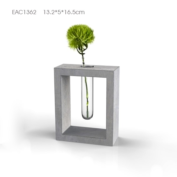 Modern Planter Pot with Glass Pipe