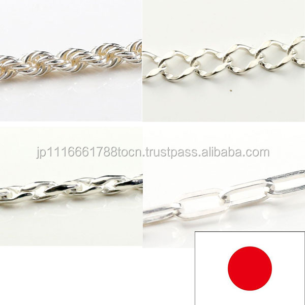 Effective and High quality different types of necklace chains jewelry Silver necklace product for High quality