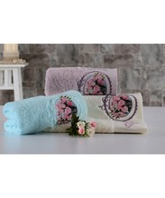 Colorful Roses Pattern Embroidered 100% Pure Turkish Cotton Face Towel Fade Resistant 30x50 cm 50x90 cm 70x140 cm