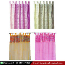 Organza Fabric Embroidered Window Curtain