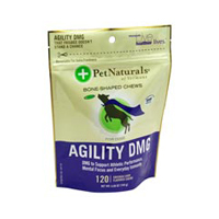 Agility DMG Bone Shaped Chews for Dogs, 120 chews by Pet Naturals of Vermont