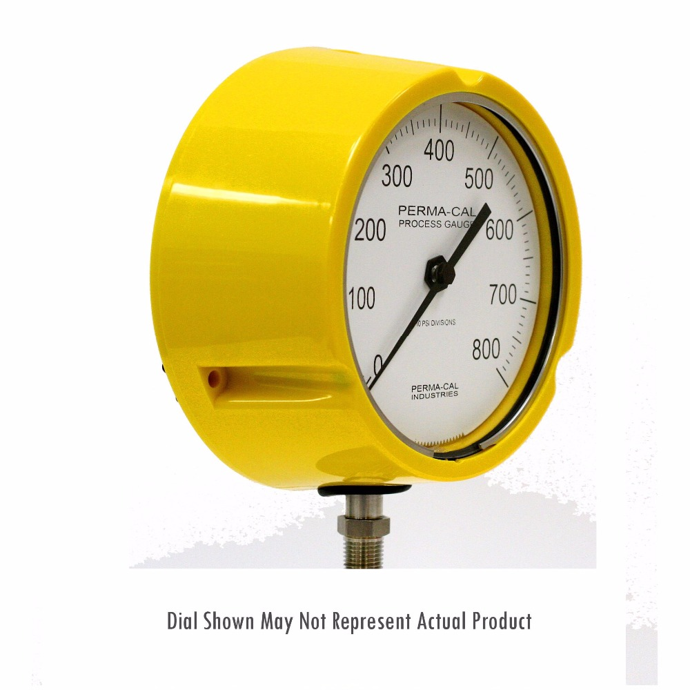 Industrial Pressure Gauges - 101 Series Test Gauge - 4.5 Inch Dial - Perma-Cal Direct Drive Pressure Gauge