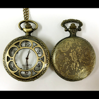 Durable and Hand made crystal glass stone Pocket watch at reasonable prices customized