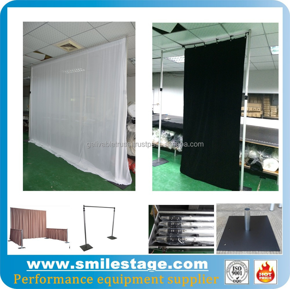 Wedding Drapery Support Telescopic Poles and Rails System