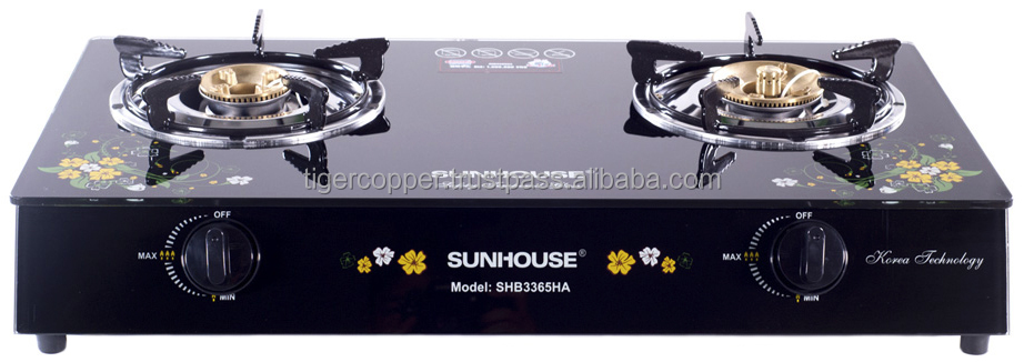 SUNHOUSE GLASS TABLE TOP GAS COOKER SHB3365HA