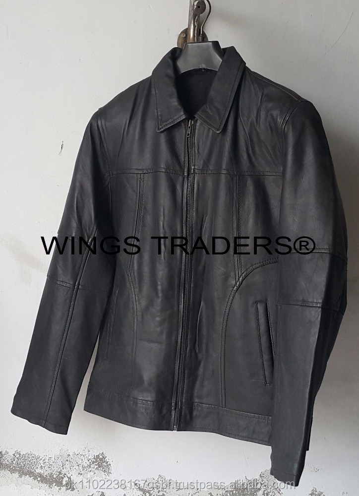 Factory Price Excellent Quality Boys Slim Fir Soft Lamb Leather Jacket Fast Delivery