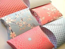 custom printed pillow boxes in assorted prints suitable for gift packaging, t shirt packaging, scarf packaging, jewellery
