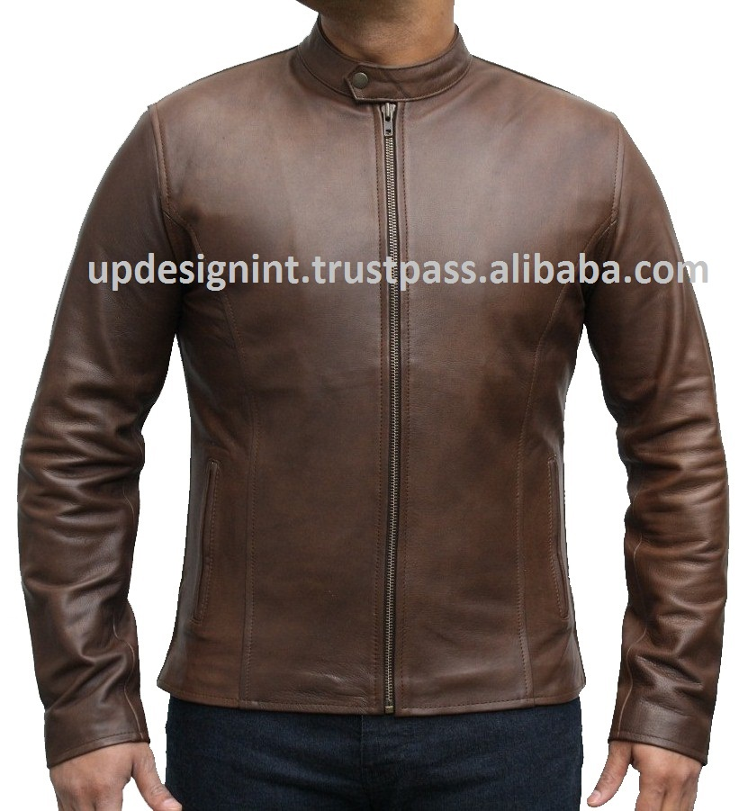 Evolve Brown Leather Fashion Jackets