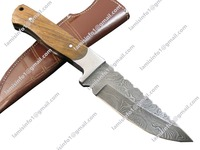 CUSTOM HANDMADE DAMASCUS STEEL HUNTING KNIVES