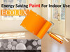 Ecolux energy saving house interior wall paint for warmer room
