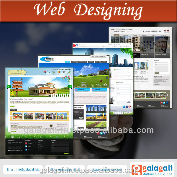 Digital Marketing with Website Design and Development Service for Real Estate
