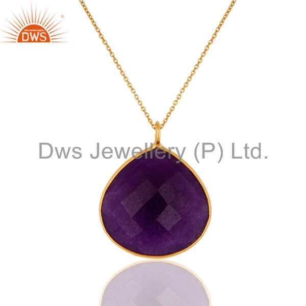New List Gold Plated Silver Chain Pendant Wholesale Aventurine Gemstone Pendant Jewelry Supplier