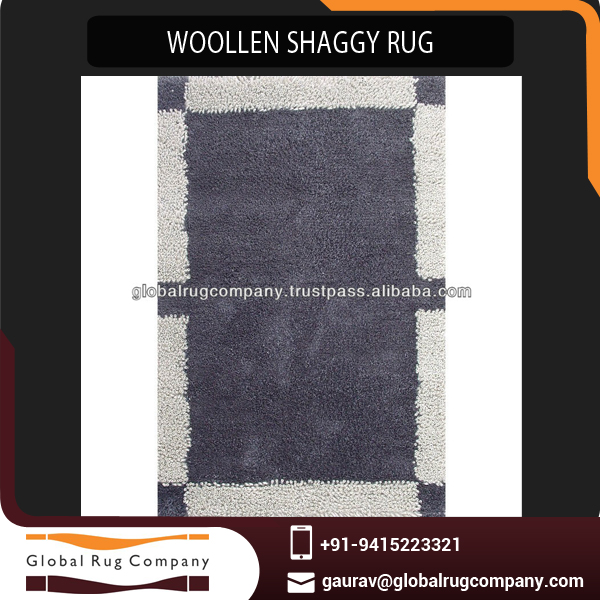 Large-Scale Supplier of Wollen Shaggy Rugs and Carpets Dealing at Bargain Rate