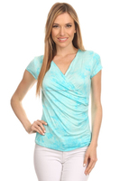 Buy Women's Wear Exclusive Tie & Dye Rayon Top Online Cool Colors Available