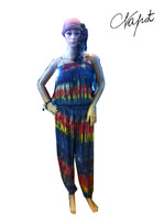 HIPPIE BOHO TIE DYE MAXI PANTS JUMPSUITS PLUS size for women.