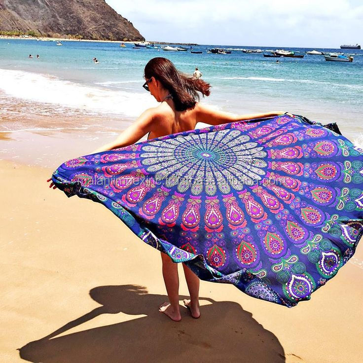 Alibaba Low Price Wholesale Extra Large Mandala Round Beach Towel Bohemian Roundie Picnic Blanket