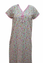 Comfortable Reyon Ladies Overcoat Night Gown Indian nighty Nightie Women's Night Nightwear 3110
