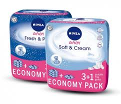 Nivea 3+1 Wet Wipes