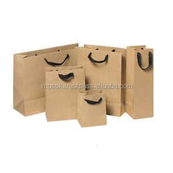 Manufacturer Custom Handle Recycle Kraft Paper Packaging Bags