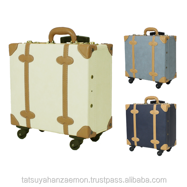 faraway luggage wheels wholesaler case travelling vintage carry box PU lather luggage carry bag travel suitcase vintage trolley