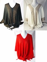 Wholesale Women's Poncho Shawl Winter Knitwear Clothing Free size