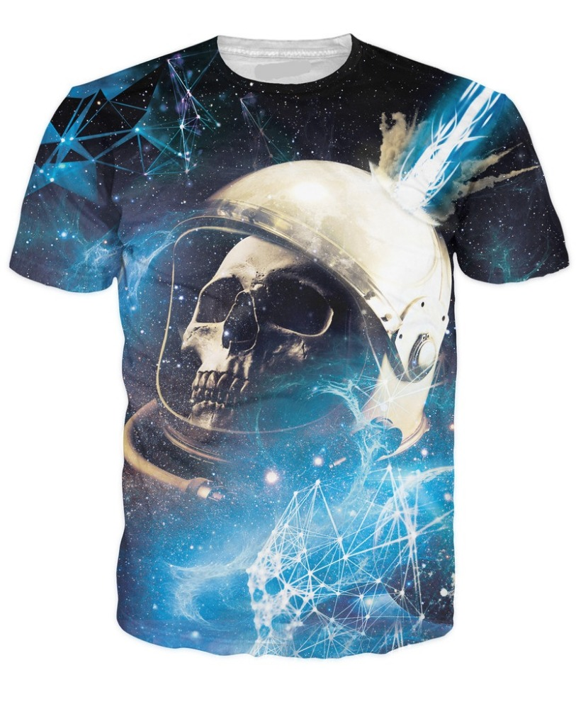 skull fracture sublimation t-shirt/all over printed sublimation t shirt/AT Noki