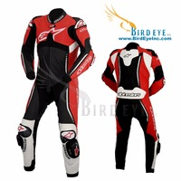 Motor Bike Suit 1 Piece Replica Alpine Star CE Approved Protection Leather Jacket