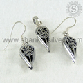 aristocratic 925 Silver Pendant Earring Jewels Set Handmade Indian Silver Jewelry Wholesaler