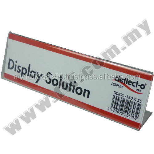 Acrylic Price Tag Holder, L Shape Tag Holder L180 x H55mm, Acrylic Display, Acrylic Display Stand, Display Stand