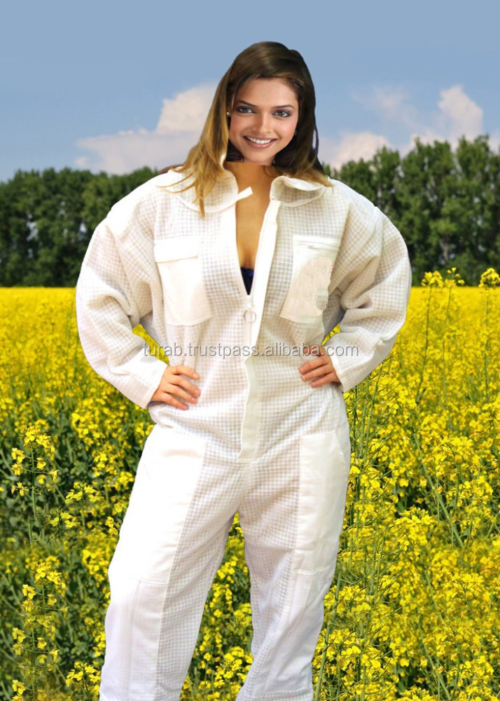 Ultra Breeze 3 layers Pest Control Beekeeping Beekeeper Bee Suit with Veil, 3 layer foam mesh beekeeping suits