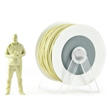 Pla 3d printer material Sand yellow metallic filament with the new spool convertible into a coat hanger. Spool holder included.